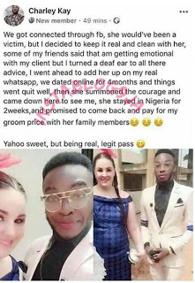 Strange Love! As Yahoo Boi Falls In Love With The Client He Wanted To Scam 2