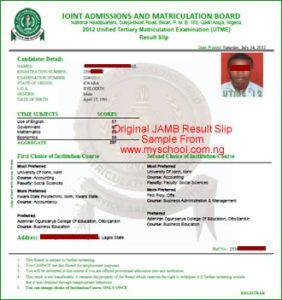 JAMB 2019 Original Result Slip Printing Begins – Please Inform Any Jambite You Know 2