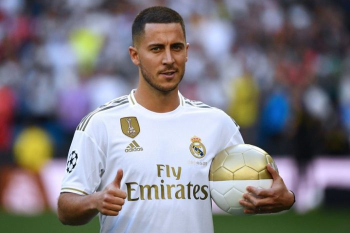 ITS OFFICIAL! See Photos Of Eden Hazard Wearing New Real Madrid Jersey 2