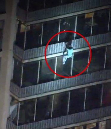 Heroic! Man Climbs 19-storey Building To Save His Mother From Fire (Photos) 1