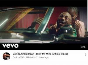 """New Record! """"Davido Blow My Mind"""" Video Hits 1Million Views Within 10 Hours (See Photo) 1"""