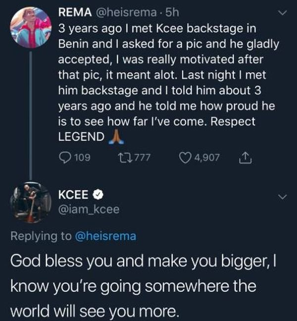 """""""How Kcee Motivated Me With A Backstage Photo 3-Years Ago"""" – Mavin Act, Rema 3"""