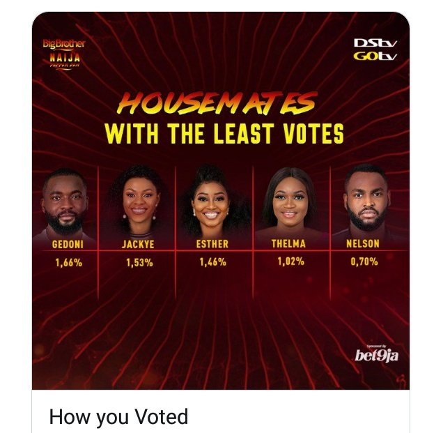 BBNaija 2019: Nelson and Thelma Evicted From The House 3