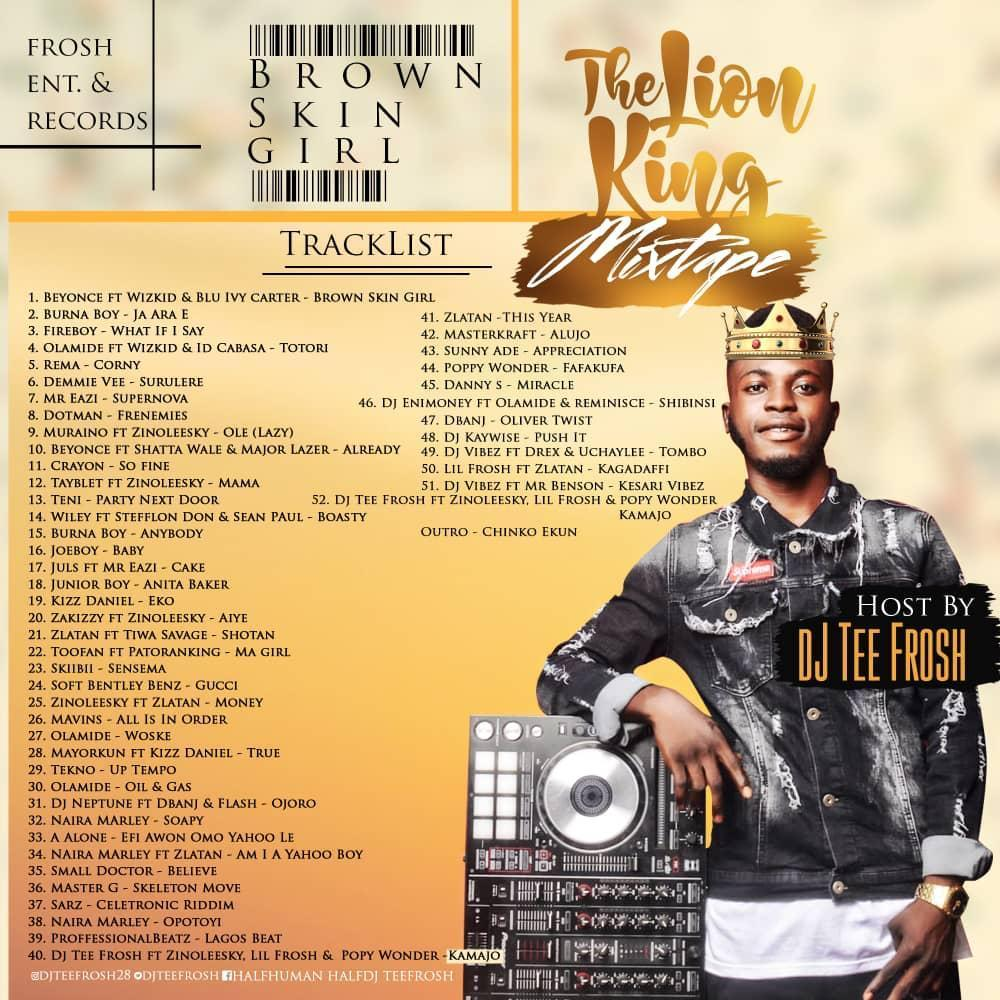 MIXTAPE: Brown Skin Girl (The Lion King Mix) Hosted By Dj Teefrosh 1