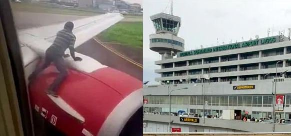 MAD ONE! Identification Of A Man Who Climbed Aircraft At Lagos Airport, Revealed 1