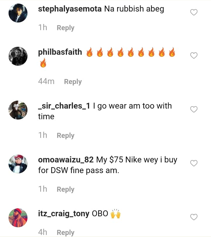 Davido Shows Off His N1.8M Shoes 5