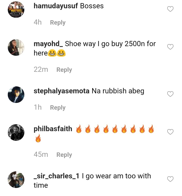 Davido Shows Off His N1.8M Shoes 6