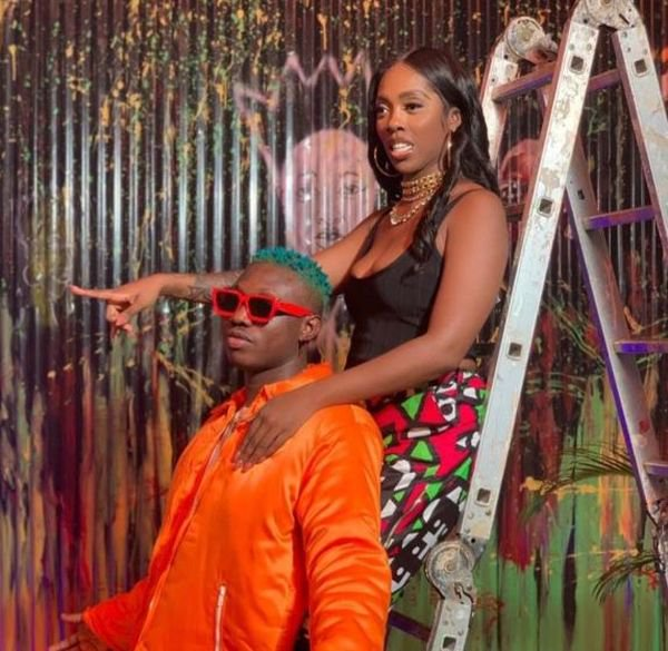See The Moment Zlatan Rocked Tiwa Savage From The Back But Was Removed From The Original Video 1