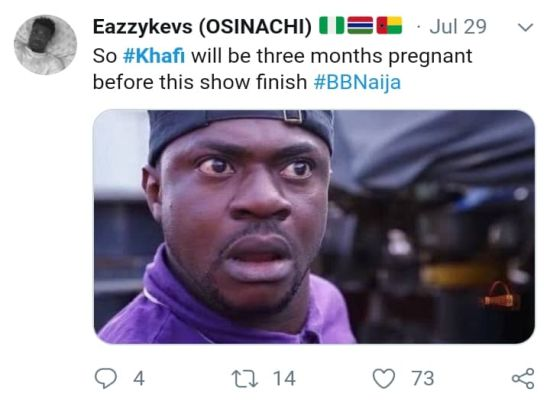 BBNAIJA:-Nigerians Reacts On Twitter As 'Khafi The Sex Addict' Trends On Twitter (See Reactions) 12