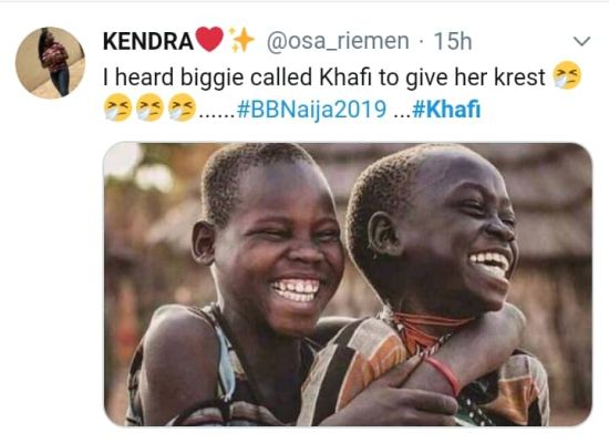 BBNAIJA:-Nigerians Reacts On Twitter As 'Khafi The Sex Addict' Trends On Twitter (See Reactions) 13