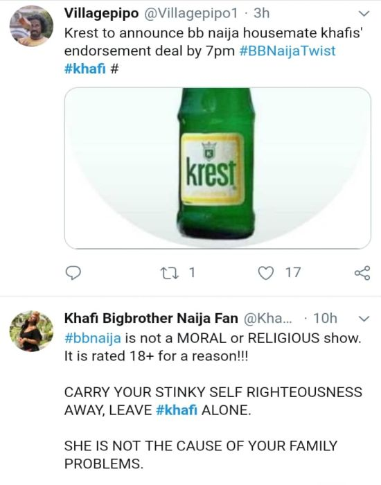 BBNAIJA:-Nigerians Reacts On Twitter As 'Khafi The Sex Addict' Trends On Twitter (See Reactions) 14