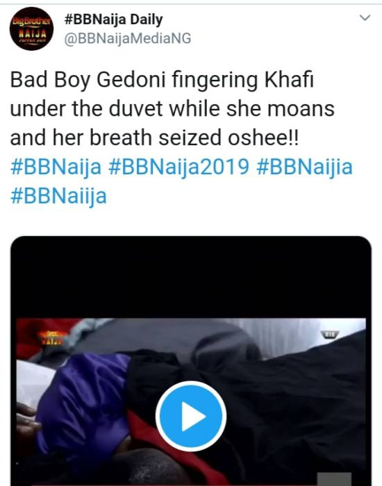 BBNAIJA:-Nigerians Reacts On Twitter As 'Khafi The Sex Addict' Trends On Twitter (See Reactions) 7