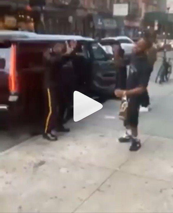 Burna Boy Dances 'Soapy' In The Streets Of New York (Photos) 1