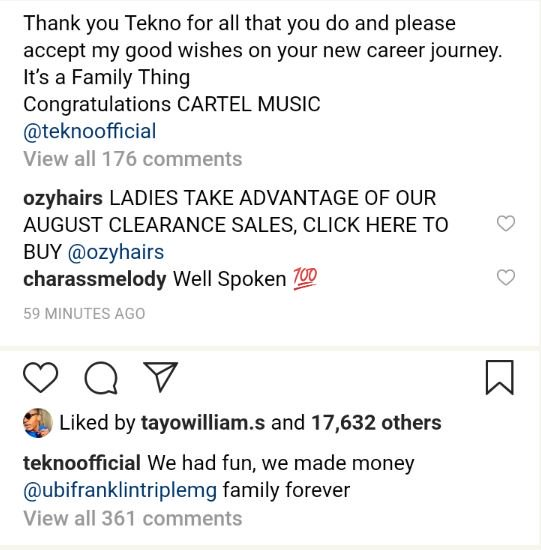 After 5 Years, Tekno Leaves Ubi Franklin, Starts His Own, Ubi Reacts (Photo) 3