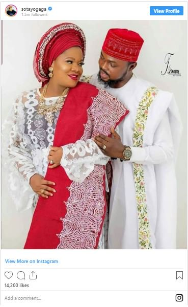 Celebrities Reacts As Toyin Abraham And Kola Ajeyemi's Pre-Wedding Photos Hit The Internet 3