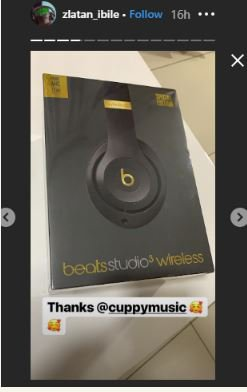 To Copy This Tune! DJ Cuppy Gifts Zlatan Ibile A Costly Headphone (Photo) 2