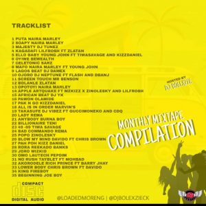 Loadedmore Monthly Mixtape Compilation (Hosted by Dj Bolexzie) 2