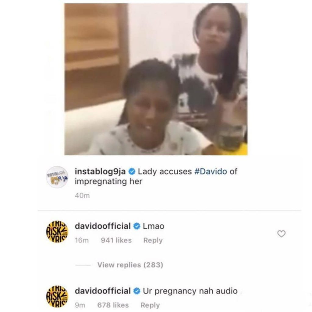 Audio Pregnancy: Davido Reacts To Rumours That He Impregnated Susan 3