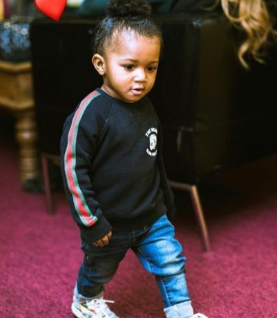 """Watch Wizkid's Son; Zion, Dancing To Naira Marley's """"Soapy"""" 1"""