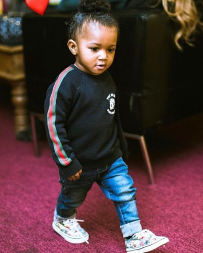 """Watch Wizkid's Son; Zion, Dancing To Naira Marley's """"Soapy"""" 2"""