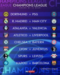 UCL DRAW!!  Liverpool vs Atletico, Chelsea vs Bayern in last 16 UCL Draw - Check Champions League Round Of 16 Full Fixtures Here 2
