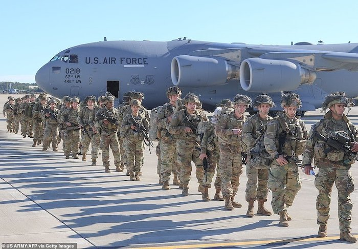 WORLD WAR 3!!! See Photos Of The 3000 US Soldiers Deployed To Iran After Soleimani's Death 5