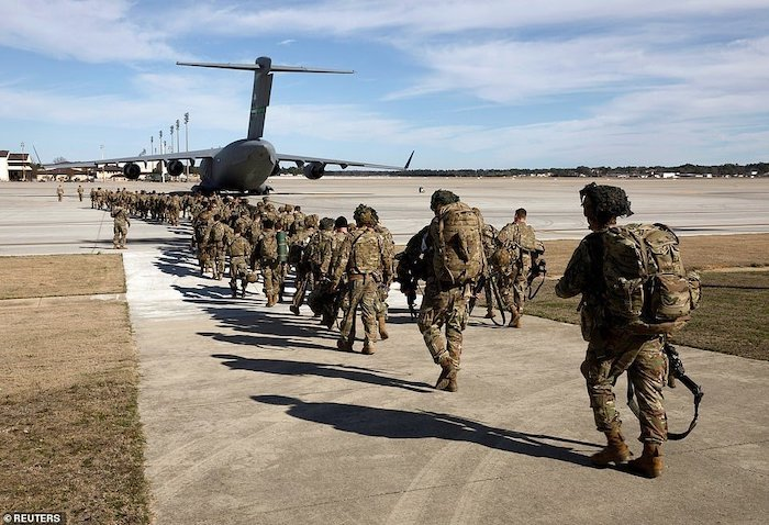 WORLD WAR 3!!! See Photos Of The 3000 US Soldiers Deployed To Iran After Soleimani's Death 8