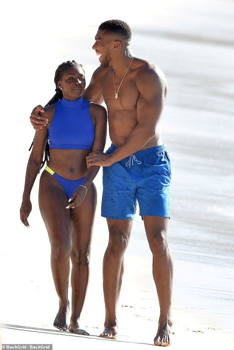 Shirtless Anthony Joshua Pictured With A Female Companion At The Beach In Barbados (Photos) 3