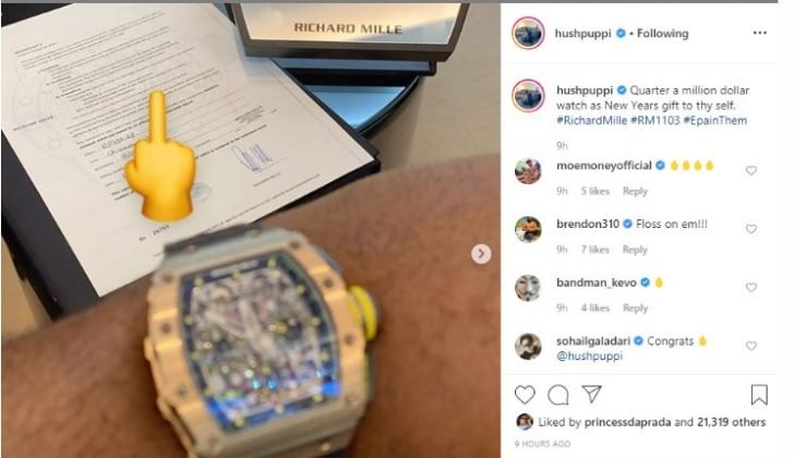 MAD O!! Hushpuppi Flaunts His N90m ($250k) Richard Mille Wrist Watch (Photos) 3