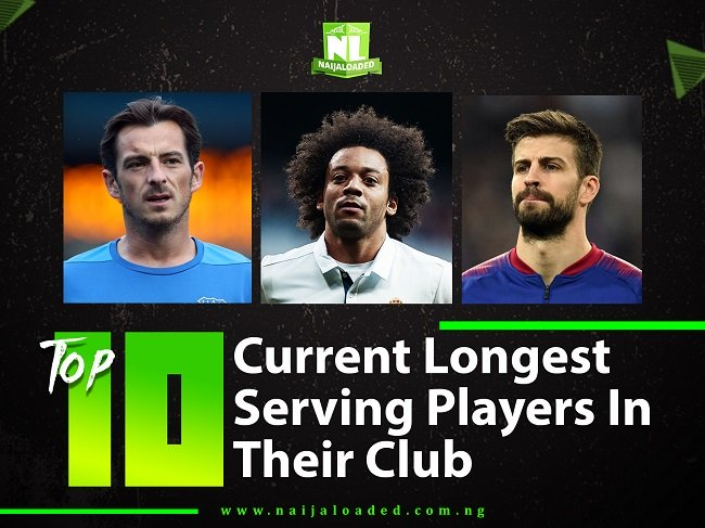WAWU! Checkout Top 10 Current Longest Serving Players In Their Club, No 1 Is The Most Committed 1