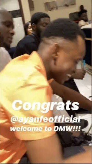 Davido Signs New Artiste, Ayanfe Into DMW Record Label
