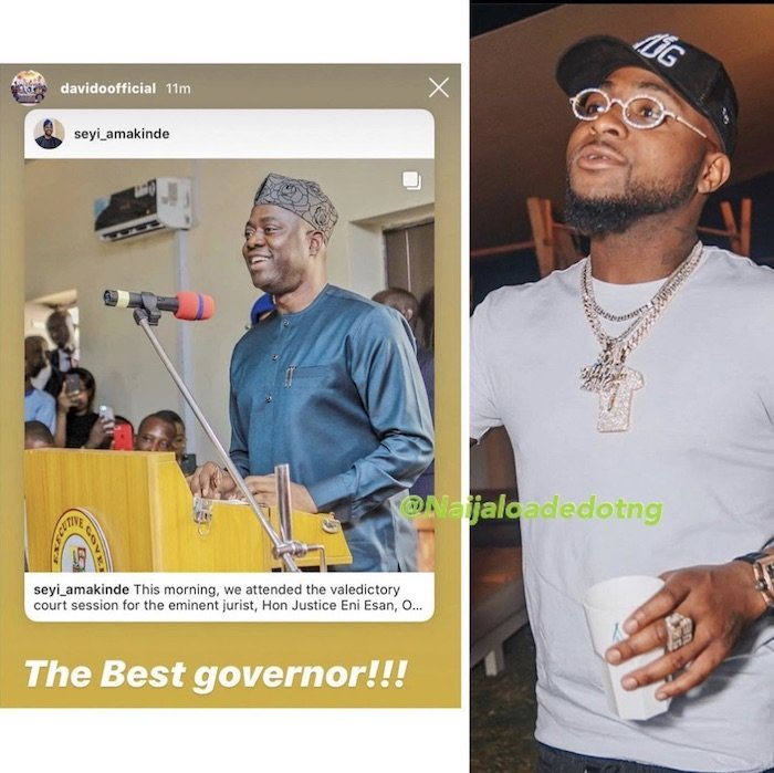Davido Declares Oyo State Governor, Seyi Makinde As The Best Governor In Nigeria – DO YOU AGREE? 2