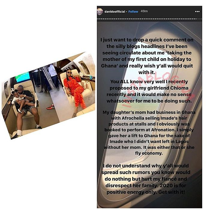 Davido Finally Speaks On Why He Travelled With Sophia Momodu To Ghana (See Why) 2