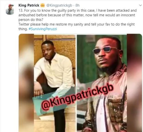 """""""Davido & Peruzzi Are After My Life After Betraying Me""""- Golden Boy CEO; Patrick Cries Out 6"""