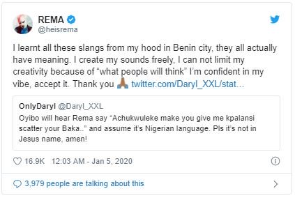 """""""I Learnt All My Slangs From My Hometown In Benin City"""" – Rema Reveals 3"""