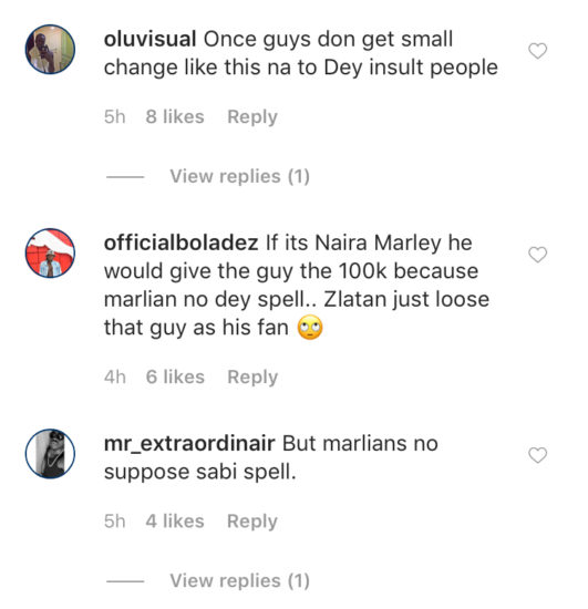 """God go punish you"" – Zlatan and crew curse young man that could not spell Marlian, lost 100k on the spot (Video) 4"