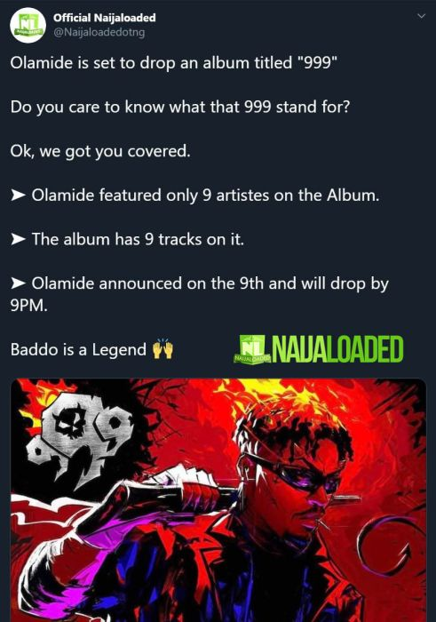 """Olamide New Album Titled """"999"""" – Here's The Meaning Of The Title & All You Should Know 2"""