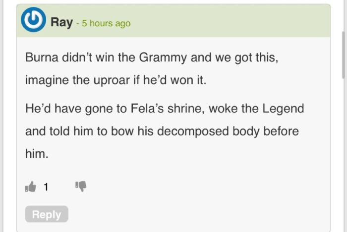 Thank God Burna Boy Did Not Win The Grammy – Here's What He Would Have Done 2