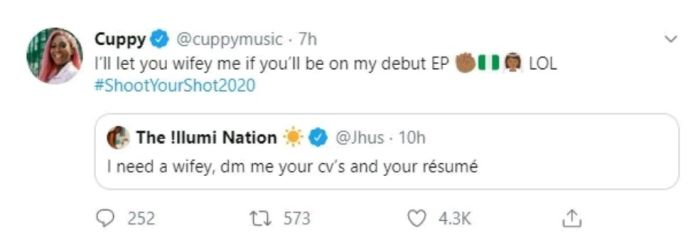 """I'll Let You Wifey Me"" – Dj Cuppy Throws Her Shot At UK Rapper J Hus As She Continues Her Search For A Husband 3"