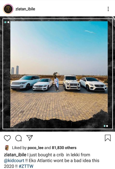 """""""I Just Bought A House In Lekki"""" – Zlatan Ibile Announces As He Flaunts His Exotic Cars (Photos) 2"""