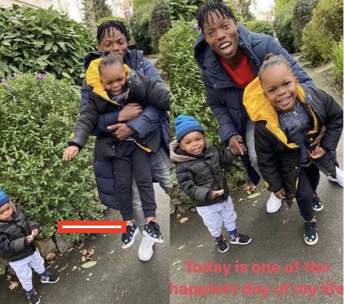 AWWNNN!!! Naira Marley's Junior Brother Get To Meet His Brother's Children For The Very First Time (Photos) 2