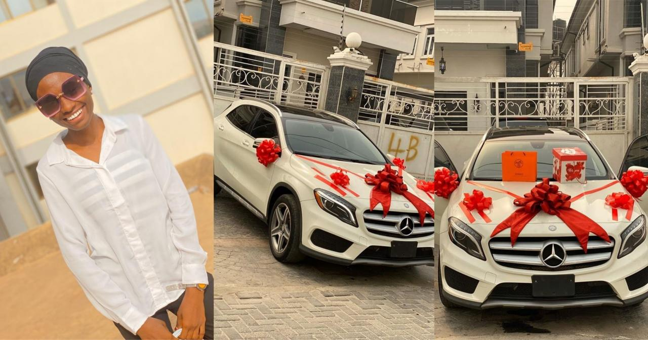 This Kind Love Is Rare!! Nigerian guy bought a brand new Benz for his Girlfriend for Valentine (Photos+Video) 1