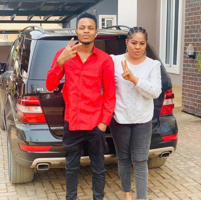 """""""Meet My Lover"""" – Regina Daniels' Mum Says As She Posts New Picture With Her Son 2"""