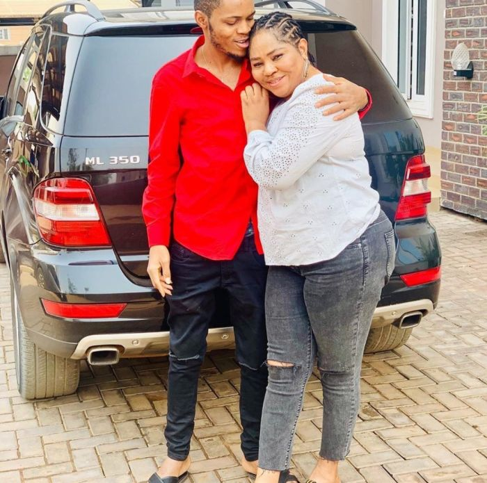 """""""Meet My Lover"""" – Regina Daniels' Mum Says As She Posts New Picture With Her Son 1"""