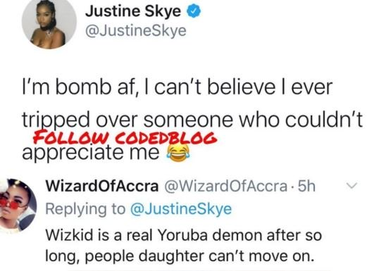 """I Can't Believe I Tripped For Someone Who Couldn't Appreciate Me"" – Wizkid's Ex-Girlfriend, Justine Skye Laments 2"