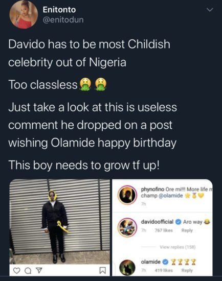 See the birthday message Davido sent to Olamide that has got everyone talking (Photo) 3