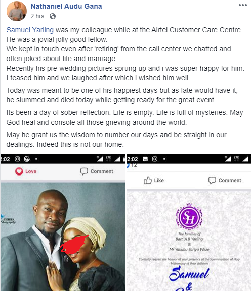 Photos Of Nigerian man Who dies on his wedding day 3