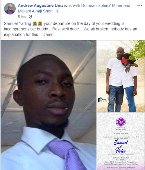 Photos Of Nigerian man Who dies on his wedding day 5