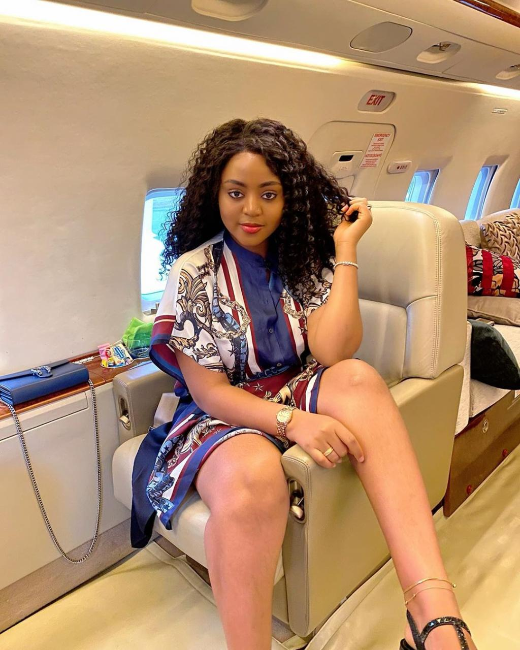 Regina Daniels and her husband Ned Nwoko all smiles as they jet off together (photos) 2