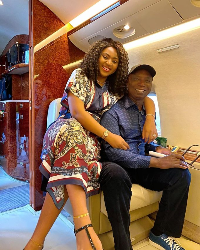 Regina Daniels and her husband Ned Nwoko all smiles as they jet off together (photos) 1